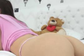 Cute teen shows her butt on MyTeenWebcam