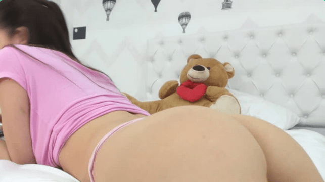 Cute teen shows her butt on MyTeenWebcam
